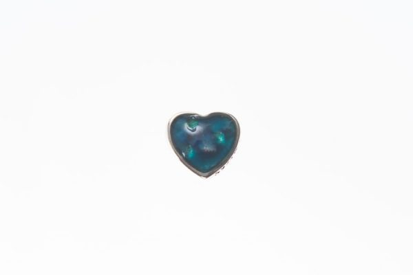 Heart Shaped Ashes Memorial Charm silver floating charm