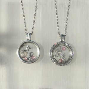 Mother & Child Silver Floating Locket Set
