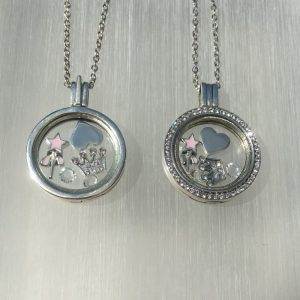 Princess Silver Floating Locket Set