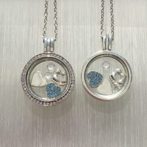 New Baby Floating Locket Set Blue