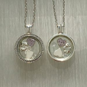 Baby Floating Locket Set Pink
