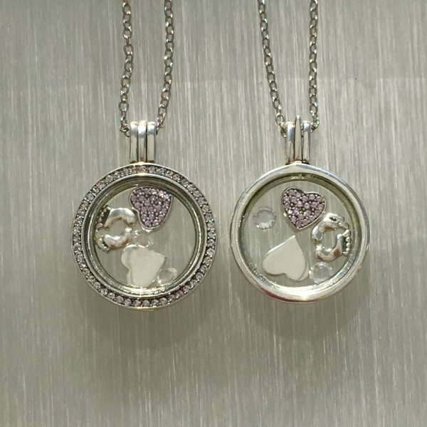 New Baby Floating Locket Set Pink