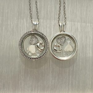 New Baby Floating Locket Set Clear