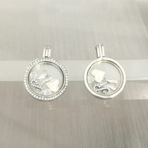 Angel Wings Floating Locket Set