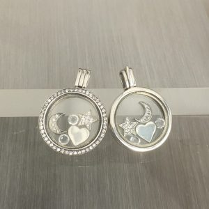 Moon & Star Floating Locket Set