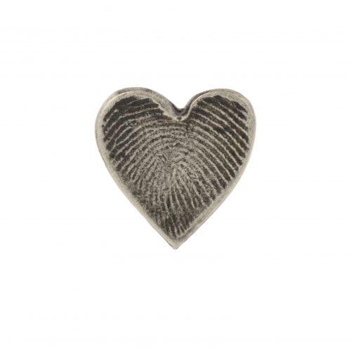 Heart Fingerprint Charm