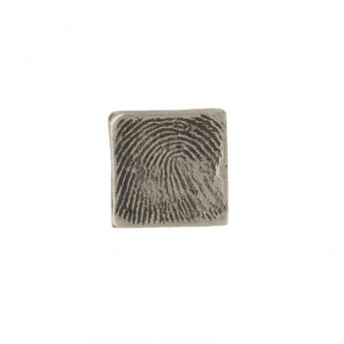 Square Fingerprint Charm