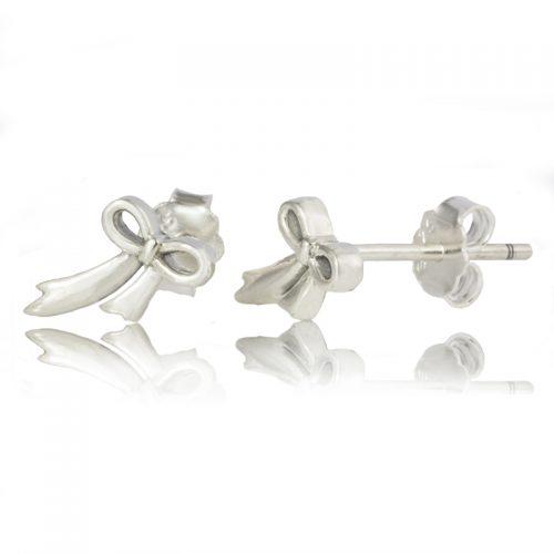 Sterling Silver Bow Earrings