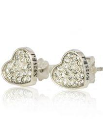 Clear Crystal Heart Earrings