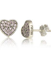 pink heart earrings 003