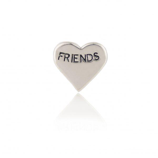 Friends Silver Heart