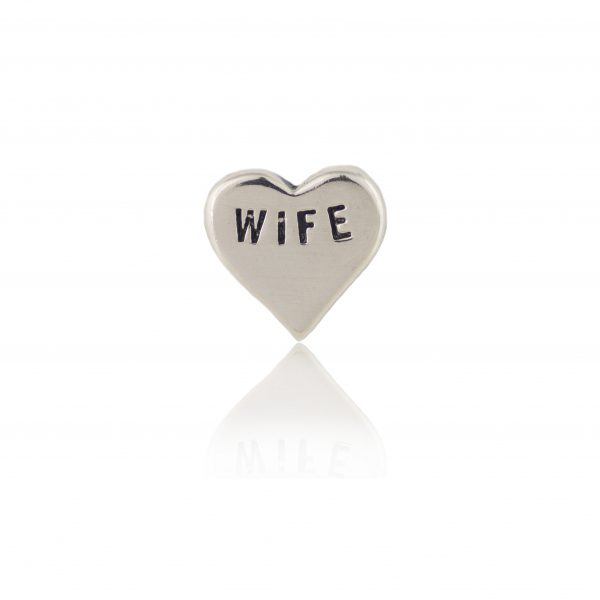 Wife Silver heart
