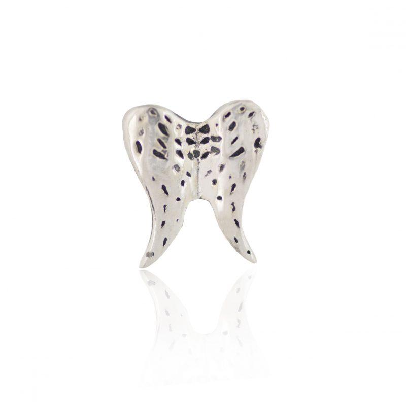Silver Double Angel Wings