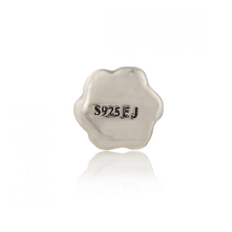 Swarovski crystal & white enamel flower