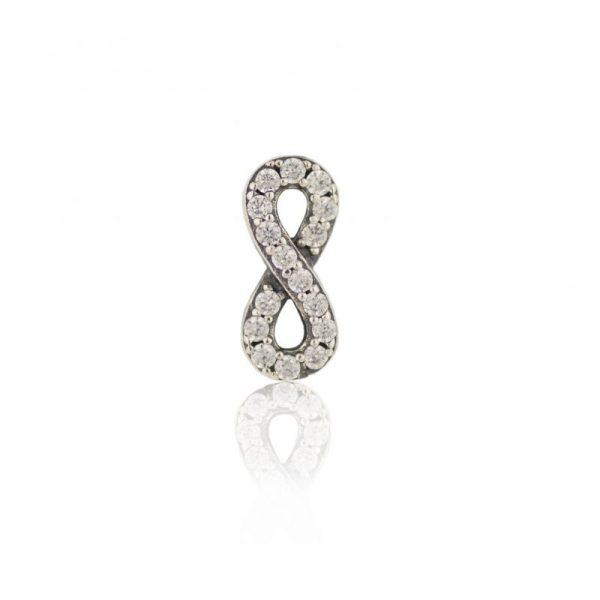 Swarovski crystal infinity charm