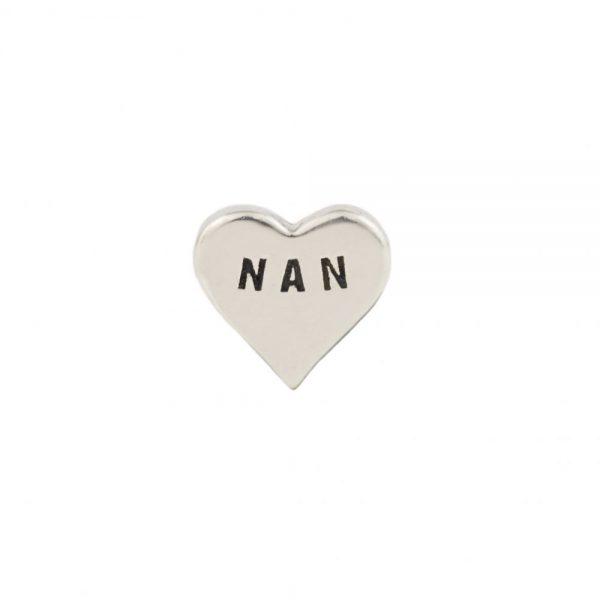Nan Silver heart