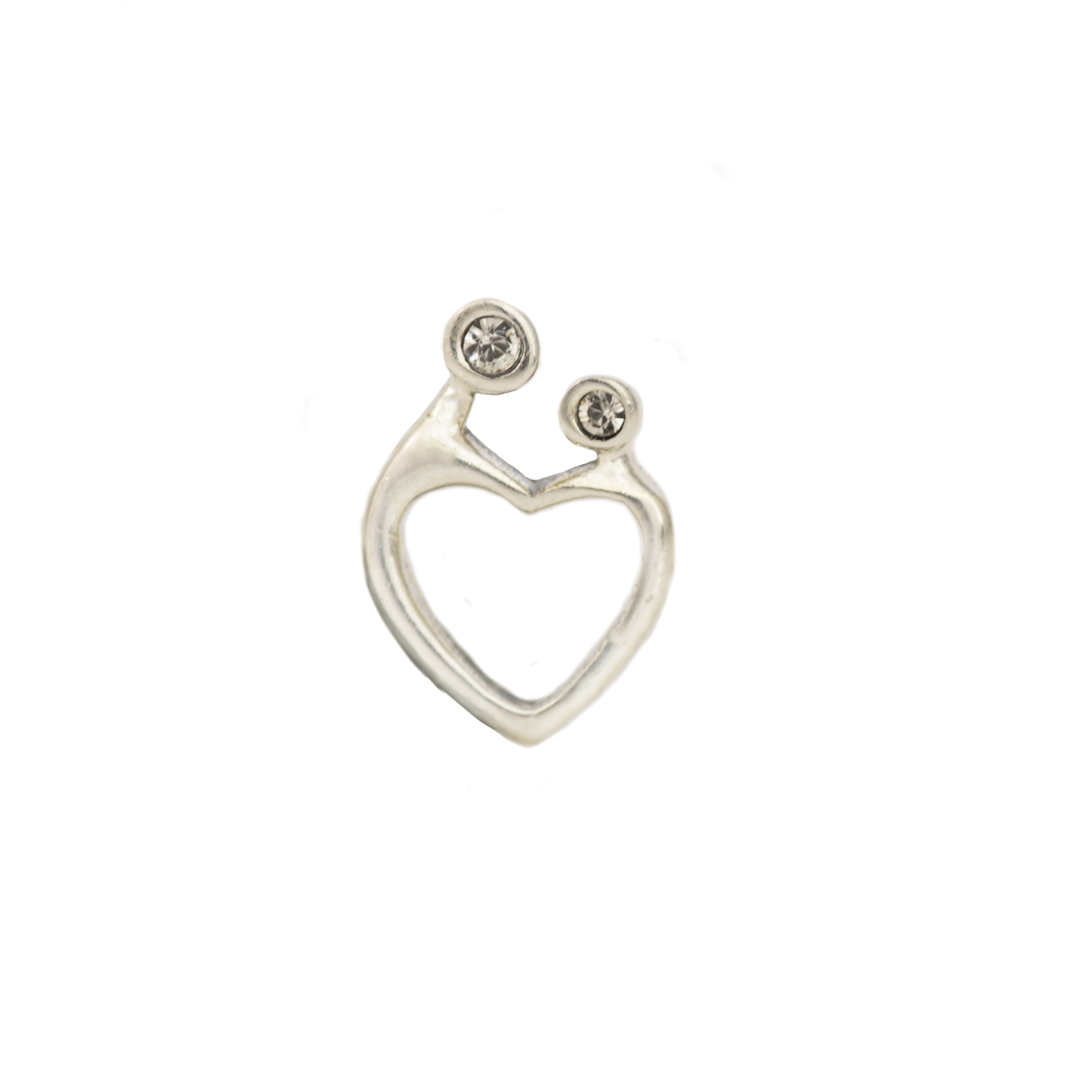 Mother & Child Silver Floating Charm