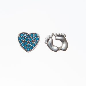 Blue New Baby Floating Charm Set
