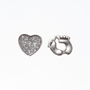 Clear New Baby Floating Charm Set
