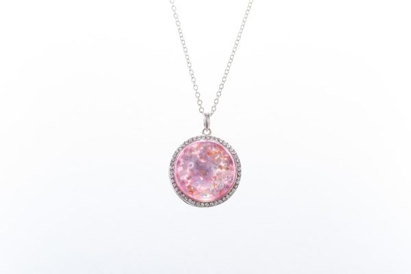 Crystal Embellished Ashes in Glass Pendant