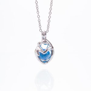 Mother & Child Glass Ashes Pearl Pendant