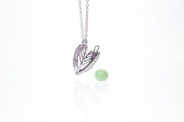 Angel Wings Glass Ashes Pearl Pendant