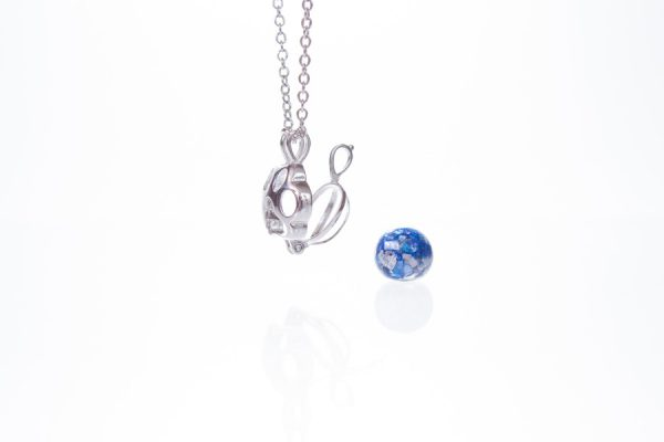 Paw Glass Ashes Pearl Pendant