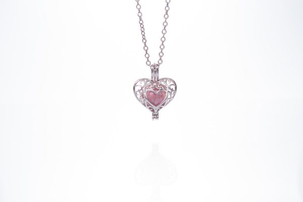 Sweetheart Glass Ashes Pearl Pendant