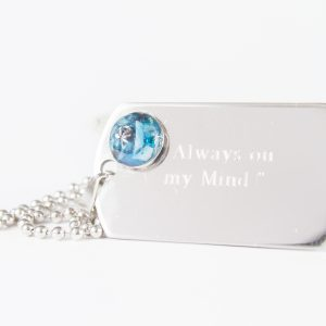 Dog Tag Ashes Pendant
