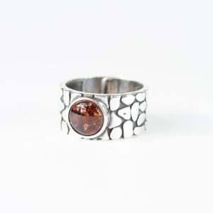 Unisex Ashes Set in Glass Ring