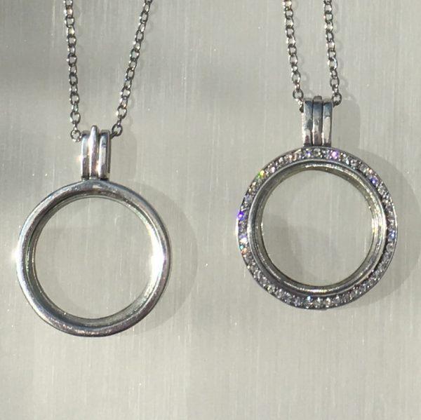 Sterling Silver Memory Locket Embellished with Swarovski crystals