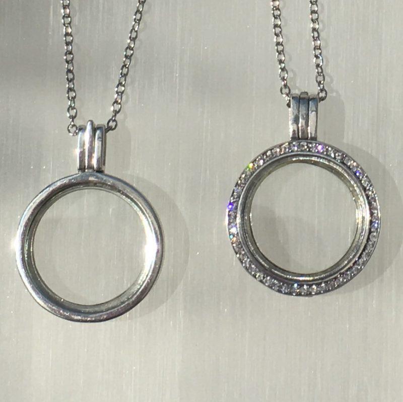 Sterling Silver Memory Locket Embellished With Swarovski