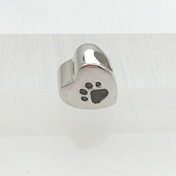 Paw Ashes Heart Bead
