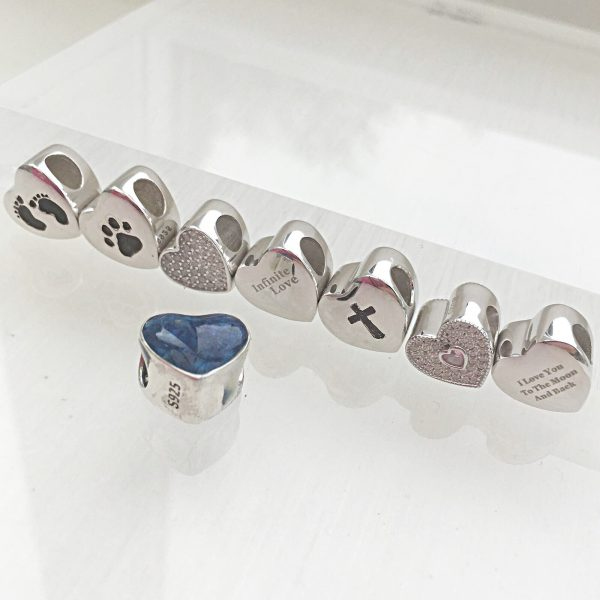 Cremation Ashes Heart Bead