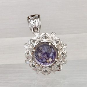 Forget-Me-Not Cremation Ash Pendant